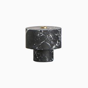Black Marble Candleholder by Karen Chekerdjian, Made In Italy