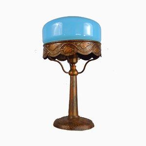 Jugendstil Kupfer Tischlampe, 1910er