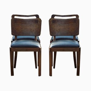 Art Deco Dining Chairs by Joseph Trier for Trier Darmstadt, 1930s, Set of 4