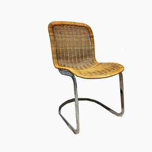 Rattan Esszimmerstühle von Cidue, 1970er, 4er Set