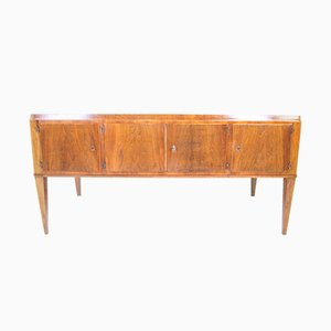 Italian Walnut-Top Double Pedestal Executive Desk, 1930s