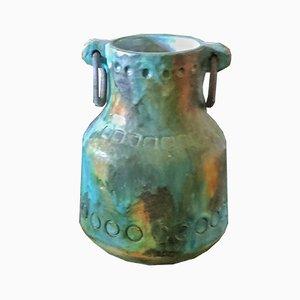 Sea Garden Vase mit Eisenringen von Alvino Bagni, 1960er