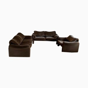 Maralunga Living Room Set by Vico Magistretti for Cassina, Italy, 1973, Set of 3