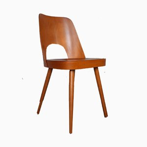 Mid-Century Czech Beech Model 515 Dining Chairs by Oswald Haerdtl for TON, 1963, Set of 8