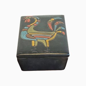 Rooster Trinket Box by Alvino Bagni for Alvino Bagni, 1960s, Set of 2