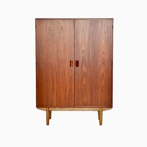 Tall Teak and Oak Cabinet by Børge Mogensen for Søborg Møbelfabrik, 1964