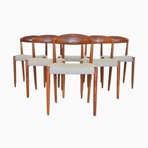 Sedie da pranzo di Knud Andersen per JCA Jensen, 1964, set di 6