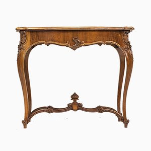 Antique Rococo Style French Walnut Dining Table, 1890s