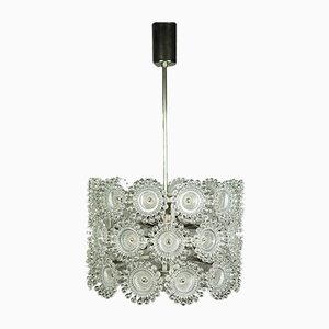 Vintage Acrylic and Chrome Dandelion Pendant Lamp from Sölken Leuchten, 1970s