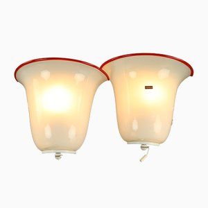 Vintage Murano Glass Sconces from Doria Leuchten, 1960s, Set of 2