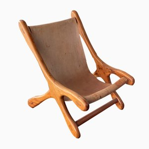 Mexican Model Sloucher Sling Chair in the Style of Don S. Shoemaker, 1960s