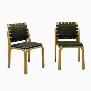 Chaises Modèle Y612 par Alvar Aalto pour Artek, 1950s, Set de 2