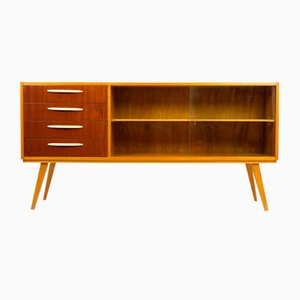 Mid-Century Birch and Mahogany Sideboard, 1960s
