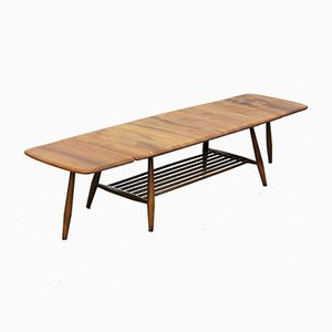 Mid-Century Extendable Drop Leaf Coffee Table by Lucian Ercolani for Ercol
