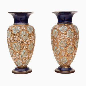 Grands Vases Art Nouveau de Royal Doulton, Set de 2