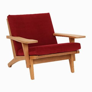 Mid-Century Model GE370 Armchair by Hans J. Wegner for Getama