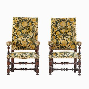 19th Century French Tapestry Armchairs, Set of 2