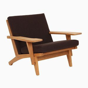 Oak Model GE370 Lounge Chair by Hans J. Wegner for Getama, 1970s