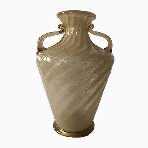 Vaso in vetro color ambra di Napoleone Martinuzzi per Zecchin-Martinuzzi, anni '30