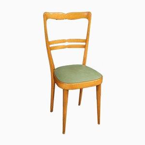 Italienische Sessel aus Exotenholz & Kunstleder, 1970er, 6er Set