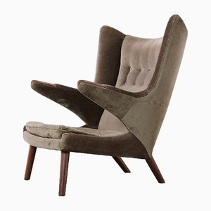 Model AP90 Papa Bear Lounge Chair by Hans J. Wegner for AP Stolen, 1951