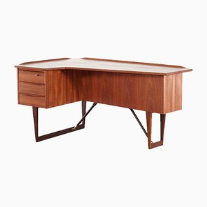 Mid-Century Danish Teak Boomerang Desk by Peter Løvig Nielsen for Løvig, 1969