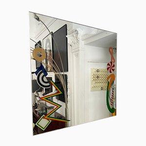 Italienischer Vintage Spiegel von Lucio Del Pezzo für Rimadesio, 1980er