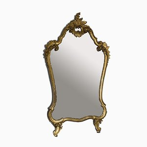Vintage Louis XV Style Carved Wood and Gold Leaf Mirror, 1950s