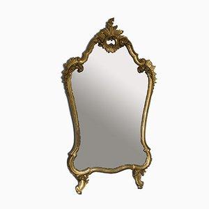 Vintage Spiegel im Louis XV Stil aus geschnitztem Holz & Blattgold, 1950er