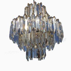 Deckenlampe aus Goldglas von Venini, 1980er