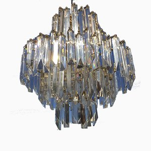 Gold Glass Ceiling Lamp from Venini, 1980s