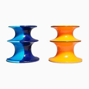 Mid-Century Keramik Pop Kerzenhalter von Inger Persson für Rörstrand, 1960er, 2er Set
