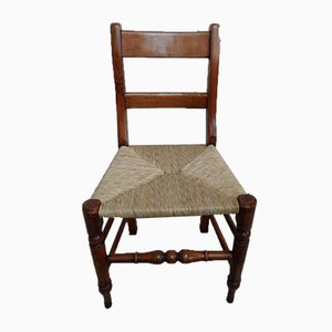 Antike Französische Campaign Stühle, 4er Set
