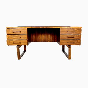 Danish Rosewood Desk by Thorben Valeur & Henning Jensen, 1960s