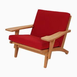Model GE370 Lounge Chairs by Hans J. Wegner for Getama, 1970s, Set of 2
