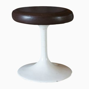 Vintage French Leather Stools, 1960s, Set of 4