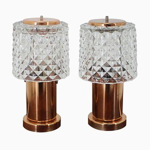 Small Table Lamps, Preciosa, 1960s, Set of 2