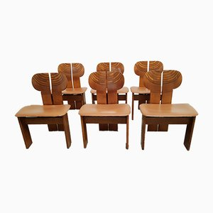 Africa Chairs by Afra & Tobia Scarpa for Maxalto, 1970s, Set of 6