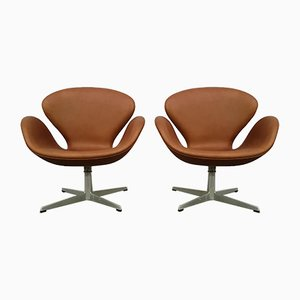 Swan Easy Chairs from Fritz Hansen, 1960s, Set of 2