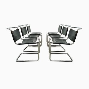 B33 Chairs by Marcel Breuer for Gavina, 1970s, Set of 6