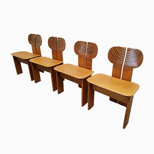 Africa Chairs by Afra & Tobia Scarpa for Maxalto, 1970s, Set of 4