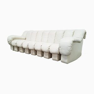 Off-White Leather DS-600 Sofa by Ueli Berger & Elenora Peduzzi-Riva for de Sede, 1970s
