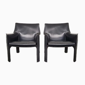CAB414 Lounge Chairs by Mario Bellini for Cassina, 1980s, Set of 2