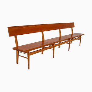 Large Scandinavian Wooden Bench, 1960s