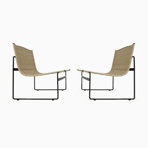 Niederländische Sessel aus Rattan von Gregorio Vicente Cortes & Luis Onsurbe für Metz & Co, 1960er, 2er Set