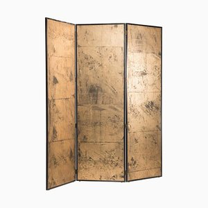 Art Deco Gold on Paper 3-Panel Screen Room Divider