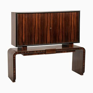 Italian Art Deco Rosewood Two-Door Dry Bar, 1930s