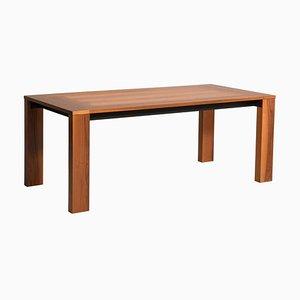 Italian Walnut Wood Table by Acerbis, 1970s