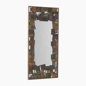 Dekorativer Metall Patchwork Spiegel von Artemide, 1950er