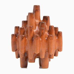 Italienische Skulpturale Keramikvase von Boulanger, 1960er